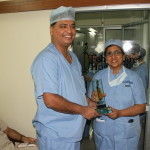 Dr Shailesh Puntambekar with Dr L FahmidaBanu in OT