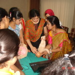 Dr Sruti demonstrating Breech delivery