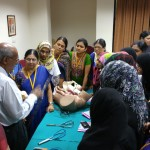 Dr VP Paily in Forceps workshop