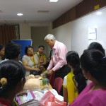 Paediatricians with New born resussitation demo